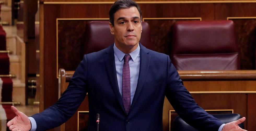El presidente del Gobierno, Pedro Sánchez responde a las preguntas de la oposición durante la primera sesión de control al Gobierno.